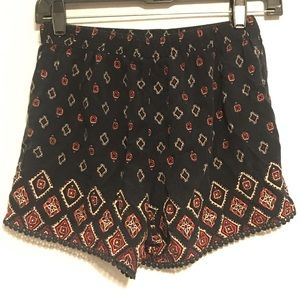 Hollister Shorts XS Navy Graphic Pattern